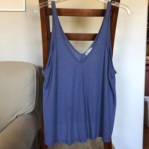 Free People Dani Periwinkle Ribbed Tank